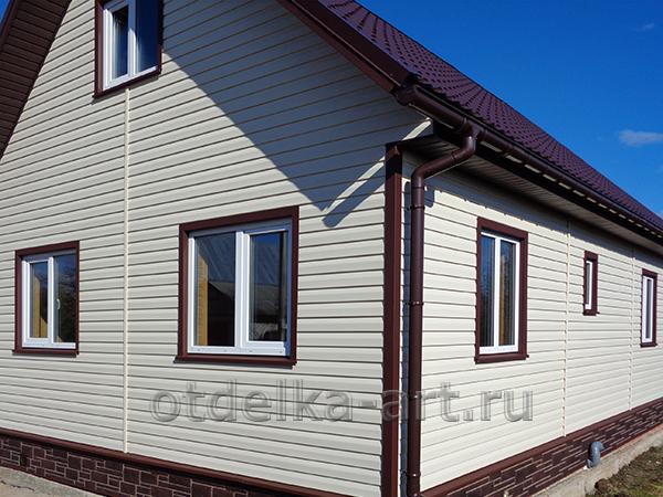 Отделка фасада дома в уфе