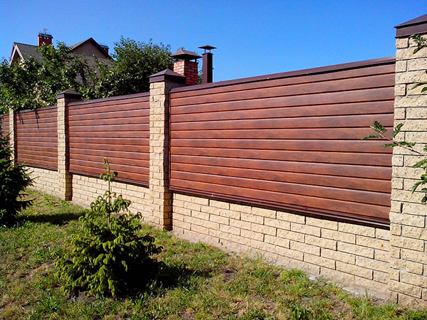 Забор из сайдинг своими руками 146